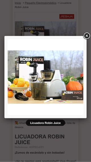 LicuadoraRobin juice de david de jorge