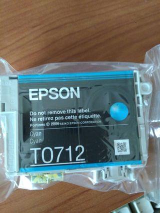 tinta impresora Epson color cyan