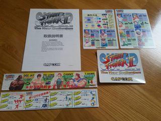 Nuevo Capcom CPS2 Super Street Fighter II art kit