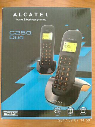Teléfono inalámbrico Alcatel C250 duo