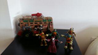 set tortugas ninjas con furgoneta original