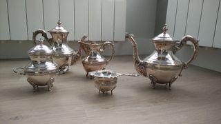 Conjunto de té de alpaca