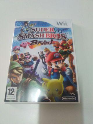Juego wii Super Smash Bros Brawl