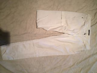 Pantalon blanco tobillo