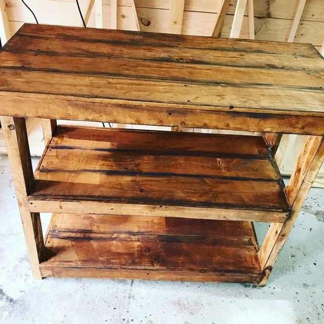 Fabricamos Mueble isla barra cocina madera palet de segunda mano por ...