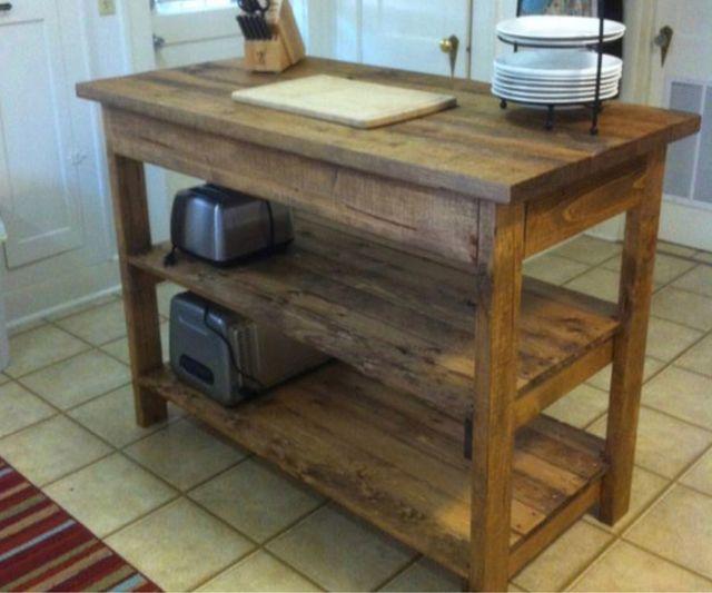 Fabricamos mueble isla barra cocina madera palet de for Mueble isla cocina