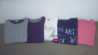 Lote camisetas niña 12-13 años