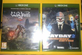 PRECINTADOS. Halo Wars 2 o Pay Day 2. Xbox One.