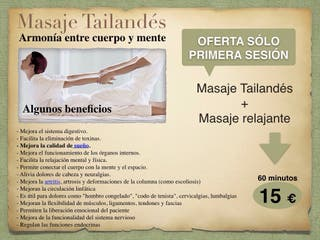 Masaje holistico desde 15€