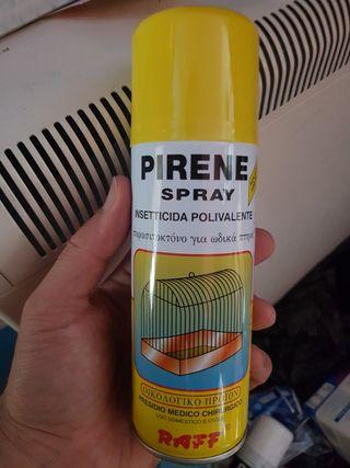 Spray insecticida para aves y jaulas