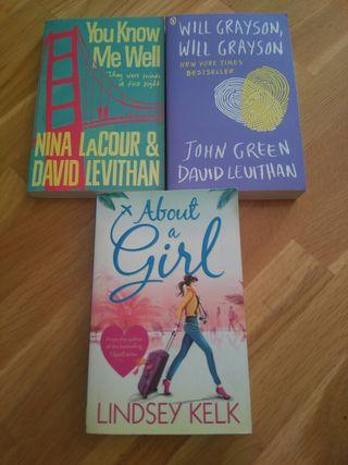 3 libros ingles.