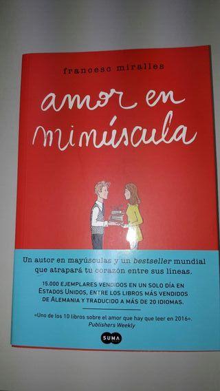 Amor en minúscula libro nuevo