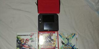 Nintendo 2 DS + 3 juegos