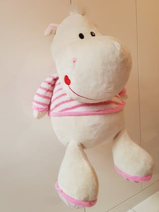 Peluche aterciopelada 65 cm XL Hipopotama