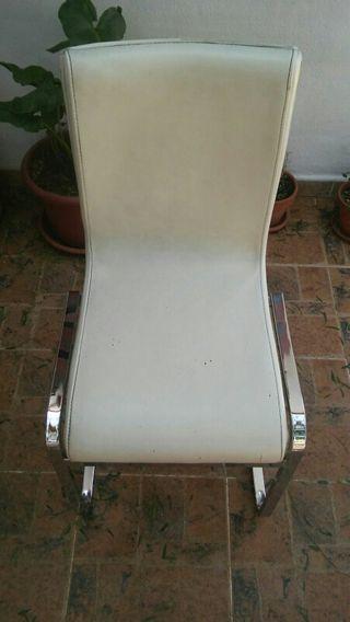 sillas de piel