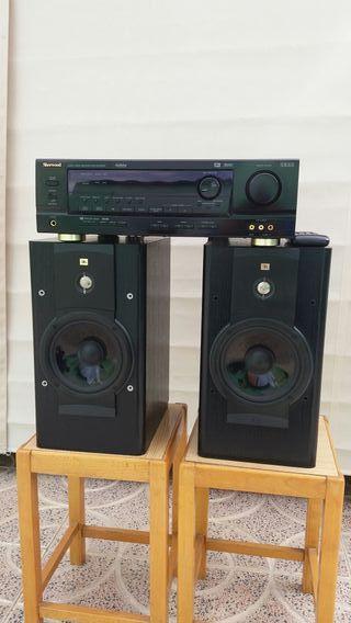 amplificador de sonido con 2 altavoces jbl