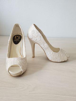 zapatos de novia de segunda mano en la provincia de murcia en wallapop