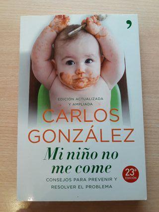 Libro Mi niño no me come. Carlos Gonzalez