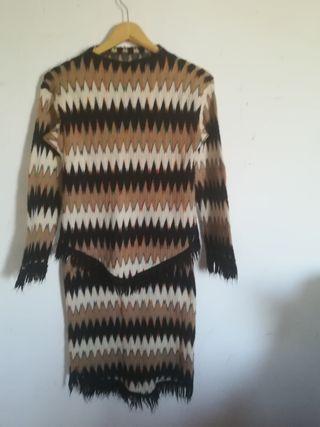 conjunto falda y jersey