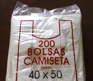 Bolsas camiseta 40x50cm 200uds