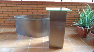 Conjunto mesas diseño cristal biselado