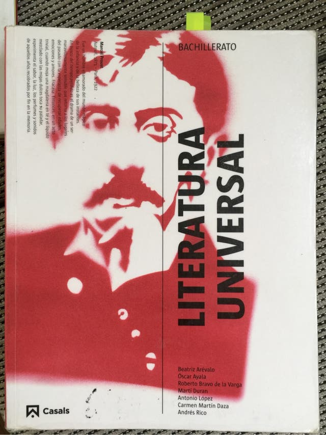 Libro literatura Universal 1er Bachiller