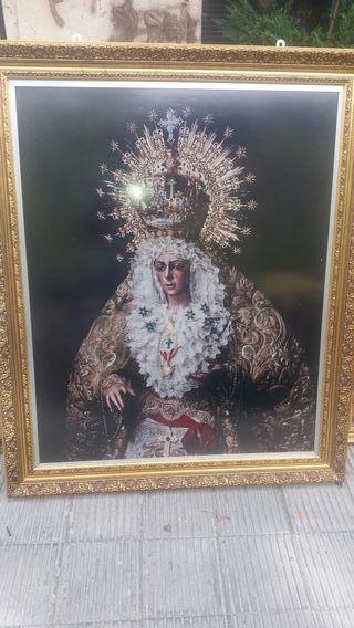 antiguo cuadro de virgen