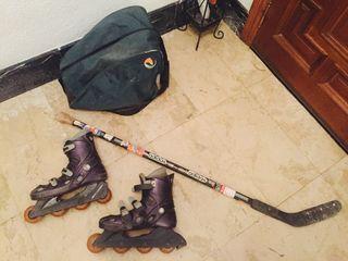 Patines más stick hockey