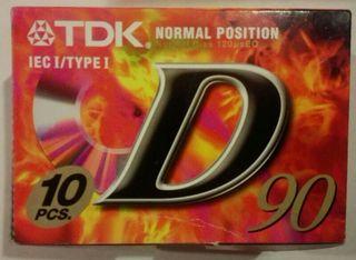 Caja de cintas de cassette TDK 60 minutos.
