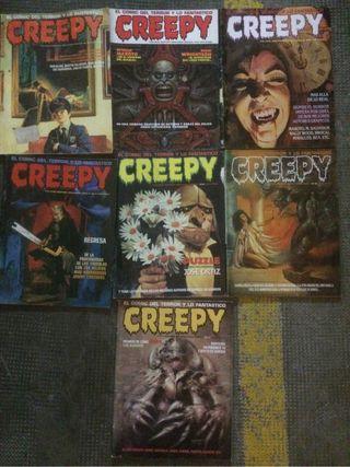 Comic creepy siete cómics
