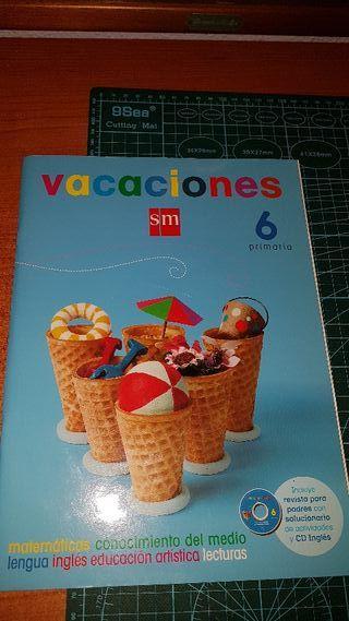 libro vacaciones 6 primaria