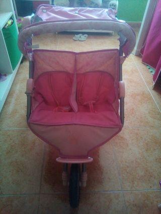 Carro gemelar infantil