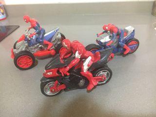 Moto y quads spiderman y iron