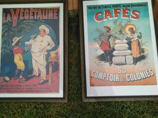 cuadros con poster antiguo