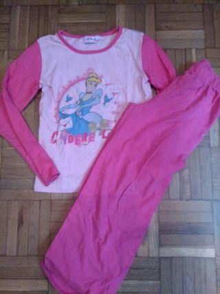 Pijama princesas niña talla 6-7