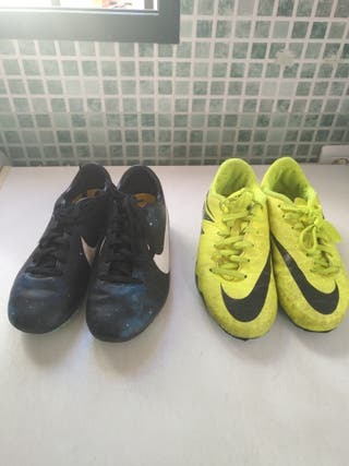 lote botas de fútbol niño