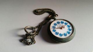 reloj lentejuelas antiguo bolsillo railway regulad