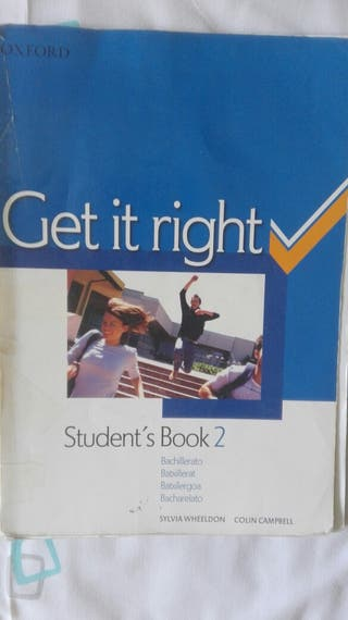 Get it rigth Students book 2°Bachillerato