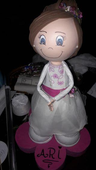 Fofuchas personalizadas ideal muñeca de comunión