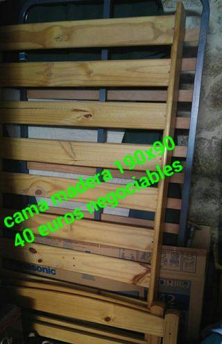 CAMA MADERA 190X90