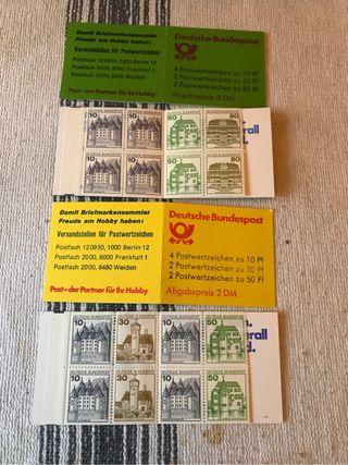 Sellos de correo aleman.