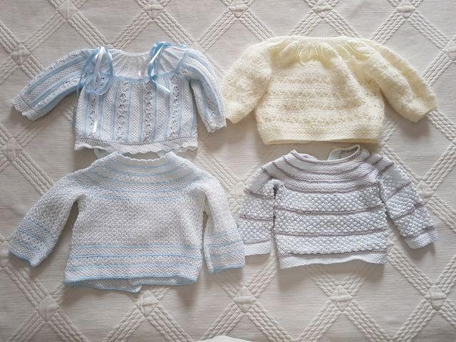 ec23c646d Pack 4 chaquetas punto bebe hechas a mano de segunda mano por 50 ...