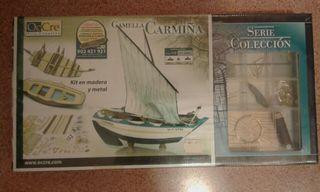 maqueta de madera barca Carmiña