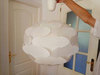 Lámpara techo de Ikea, grande, blanca, de plástico