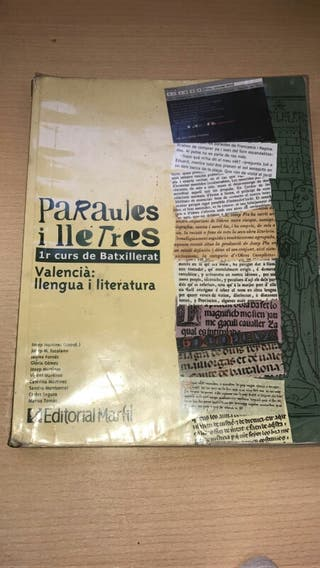 valenciano ; lengua y literatura 1 bachiller
