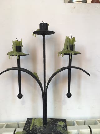 candelabro hierro
