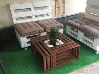 Mesa de centro artesana madera original