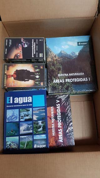 pelis vhs y enciclopedia de 10 tomos