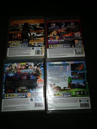 vendo juegos de la pley 3 el precio por cada uno