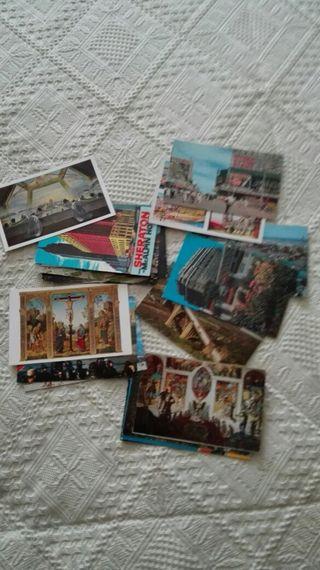 lote 19 postales americanas años 60
